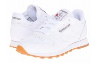 Reebok Kids Classic Leather (Little Kid) White/Gum - SALE