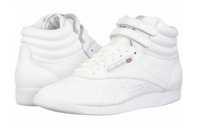 Reebok Lifestyle Freestyle Hi White/Silver - SALE