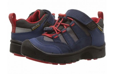 Keen Kids Hikeport WP (Toddler/Little Kid) Dress Blues/Fiery Red