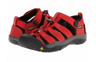 Keen Kids Newport H2 (Little Kid/Big Kid) Ribbon Red/Gargoyle