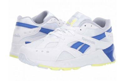 Reebok Kids Aztrek (Big Kid) White/Grey/Cobalt/Lime - SALE