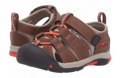 Keen Kids Newport H2 (Toddler) Dark Earth/Spicy Orange