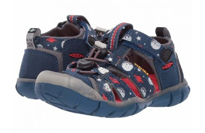 Keen Kids Seacamp II CNX (Toddler/Little Kid) Blue Opal Space/Glow