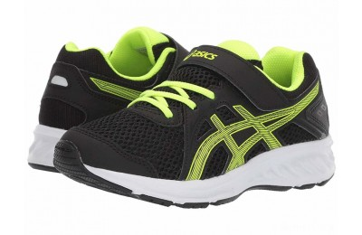 ASICS Kids Jolt 2 PS (Toddler/Little Kid) Black/Safety Yellow - SALE