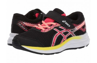 ASICS Kids Gel-Excite 6 (Toddler/Little Kid) Black/Laser Pink - SALE
