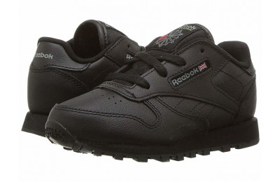 Reebok Kids Classic Leather (Infant/Toddler) Black - SALE