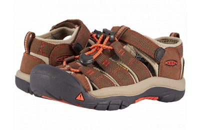 Keen Kids Newport H2 (Little Kid/Big Kid) Dark Earth/Spicy Orange