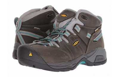 Keen Utility Detroit XT Mid Steel Toe Waterproof Gargoyle/Lake Blue