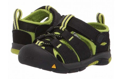 Keen Kids Newport H2 (Toddler) Black/Lime Green