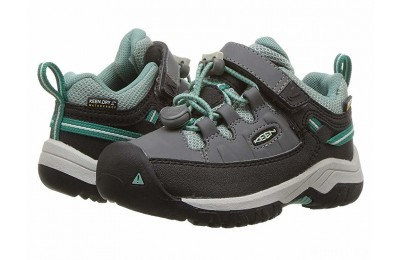 Keen Kids Targhee Low WP (Toddler/Little Kid) Steel Grey/Wasabi