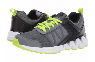 Reebok Kids ZigKick 2K18 (Big Kid) Alloy/Black/Lime - SALE