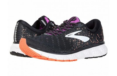 Brooks Glycerin 17 Black/Fiery Coral/Purple - SALE