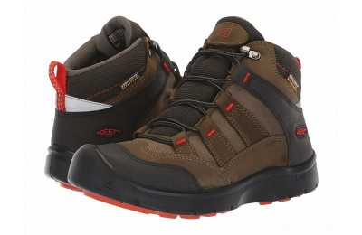 Keen Kids Hikeport Mid WP (Little Kid/Big Kid) Martini Olive/Pureed Pumpkin