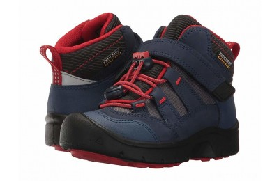 Keen Kids Hikeport Mid WP (Toddler/Little Kid) Dress Blues/Fiery Red