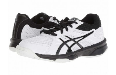 ASICS Kids Upcourt 3 Volleyball (Little Kid/Big Kid) White/Black - SALE
