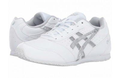 ASICS Kids Cheer 8 GS (Toddler/Little Kid) White/Silver/Interchange - SALE