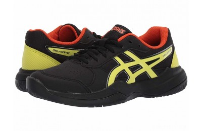 ASICS Kids Gel-Game 7 GS Tennis (Little Kid/Big Kid) Black/Sour Yuzu - SALE