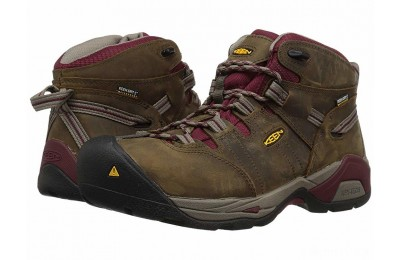 Keen Utility Detroit XT Mid Steel Toe Waterproof Black Olive/Tawny Red