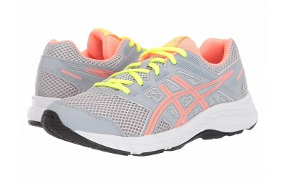 ASICS Kids Gel-Contend 5 (Big Kid) Piedmont Grey/Sun Coral - SALE