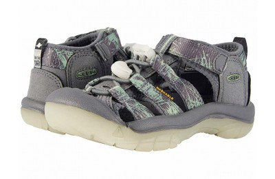 Keen Kids Newport H2 (Toddler/Little Kid) Steel Grey/Glow