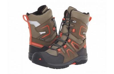 Keen Kids Levo Winter WP (Little Kid/Big Kid) Black Olive/Pureed Pumpkin