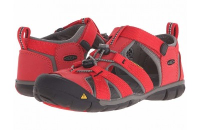 Keen Kids Seacamp II CNX (Little Kid/Big Kid) Racing Red/Gargoyle