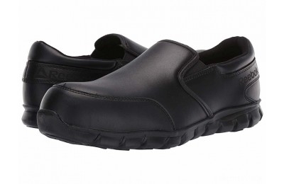 Reebok Work Sublite Cushion Work Comp Toe ESD Slip On Black - SALE