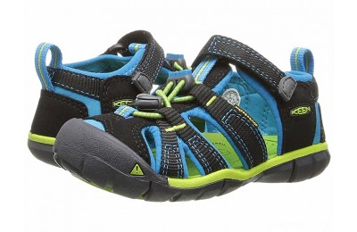 Keen Kids Seacamp II CNX (Toddler/Little Kid) Black/Blue Danube