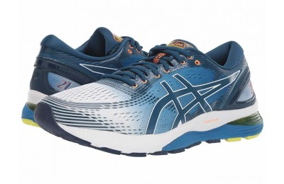ASICS GEL-Nimbus® 21 White/Lake Drive - SALE