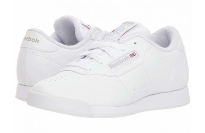 Reebok Kids Princess (Little Kid) White/Grey - SALE