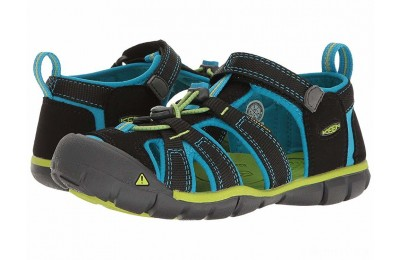 Keen Kids Seacamp II CNX (Little Kid/Big Kid) Black/Blue Danube
