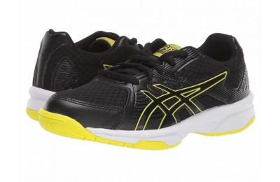 ASICS Kids Upcourt 3 Volleyball (Little Kid/Big Kid) Black/Sour Yuzu - SALE