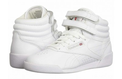Reebok Kids Freestyle Hi (Little Kid) White - SALE