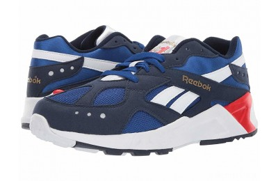 Reebok Kids Aztrek (Big Kid) Navy/Royal/White/Red/Grey - SALE