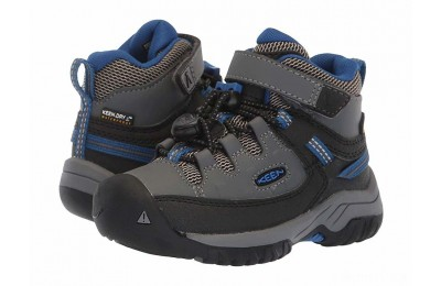 Keen Kids Targhee Mid WP (Toddler/Little Kid) Steel Grey/Baleine