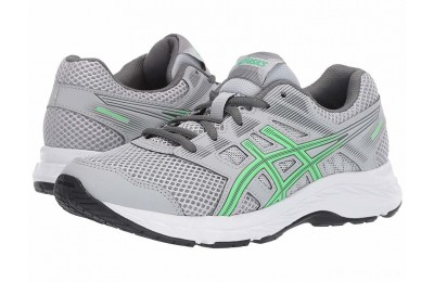 ASICS Kids Gel-Contend 5 GS (Big Kid) Mid Grey/New Leaf - SALE