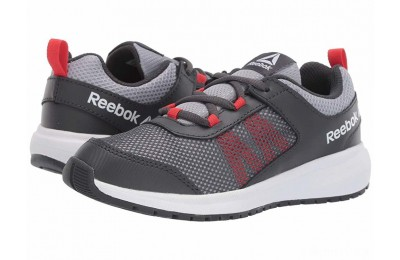 Reebok Kids Road Supreme (Little Kid/Big Kid) Grey/Shadow/Red/White - SALE