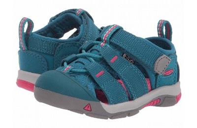 Keen Kids Newport H2 (Toddler) Deep Lagoon/Bright Pink