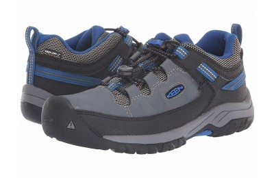 Keen Kids Targhee Low WP (Little Kid/Big Kid) Steel Grey/Baleine