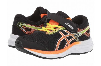 ASICS Kids Gel-Excite 6 (Toddler/Little Kid) Black/Shocking Orange - SALE