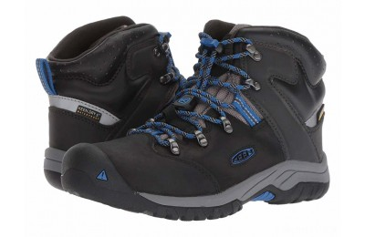 Keen Kids Torino II Mid WP (Little Kid/Big Kid) Black/Baleine Blue