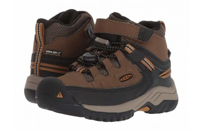 Keen Kids Targhee Mid WP (Toddler/Little Kid) Dark Earth/Golden Brown