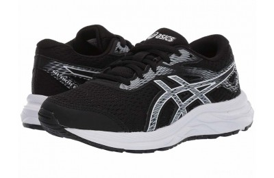 ASICS Kids Gel-Excite 6 (Little Kid/Big Kid) Black/White - SALE