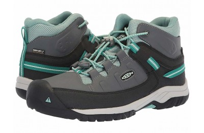 Keen Kids Targhee Mid WP (Little Kid/Big Kid) Steel Grey/Wasabi