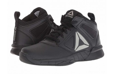 Reebok Kids Royal Dash N Drill Basketball (Little Kid/Big Kid) Black/Pewter - SALE