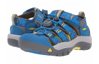 Keen Kids Newport H2 (Toddler/Little Kid) Vibrant Blue Sharks