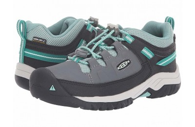Keen Kids Targhee Low WP (Little Kid/Big Kid) Steel Grey/Wasabi
