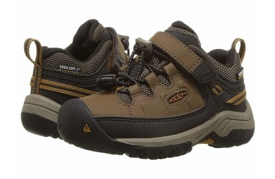 Keen Kids Targhee Low WP (Toddler/Little Kid) Dark Earth/Golden Brown