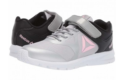 Reebok Kids Rush Runner A/C (Little Kid) Grey/Black/Light Pink - SALE