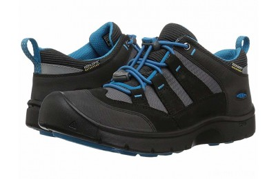 Keen Kids Hikeport WP (Little Kid/Big Kid) Black/Blue Jewel